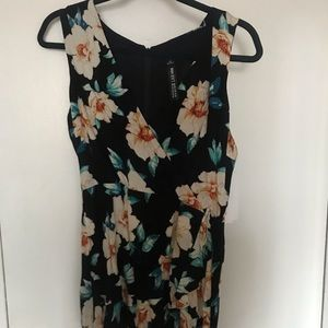 Design Lab Lord & Taylor Dresses - NWT Design Lab Black Floral Romper, Size M